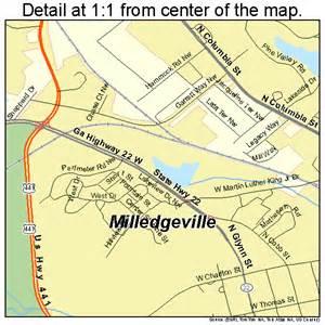 milledgeville map 1351492