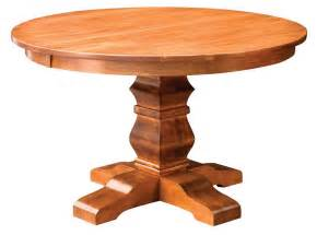 48 Round Pedestal Dining Table Amish Bradbury Single Pedestal Table