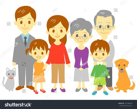 Family Mother, Father, Daughter, Son, Grand Mother, Grand