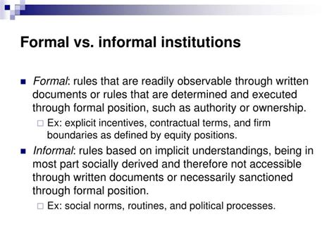 Formal And Informal Institutions Of Credit Ppt Formal And Informal Organization Powerpoint Presentation Id 1218835