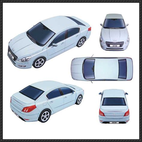 Papercraft Cars - papercraftsquare new paper model peugeot 508 paper