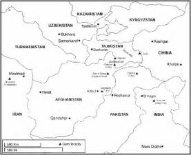 Afghanistan Pakistan Map Outline by Afghanistan S Ruby And Spinel Mines Ganoksin Jewelry