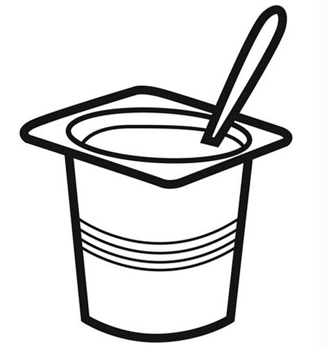 Yogurt Coloring Page free coloring pages of yoghurt