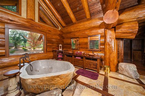 bedrooms and bathrooms log home and cabin interiors