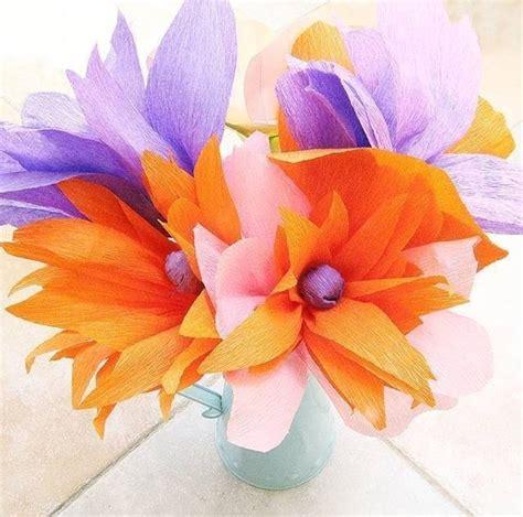 fiori di carta crespa istruzioni fiori di carta crespa fiori di carta