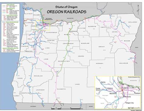 oregon railroad map state maps economic development for central oregon