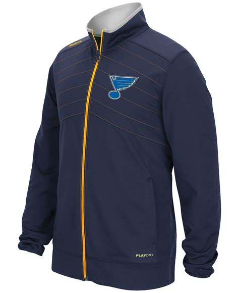 Jaket Reebok Center reebok s st louis blues center warm up jacket in
