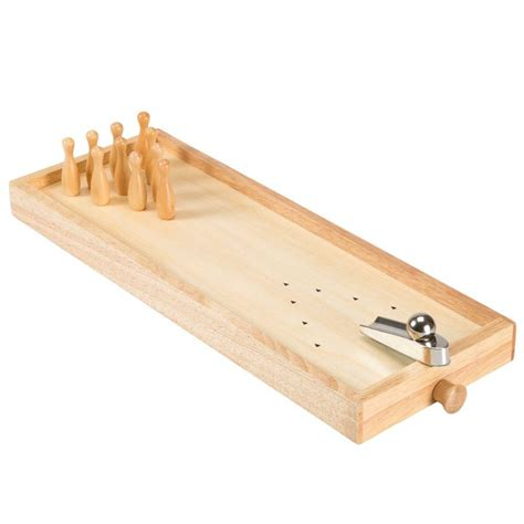 hey play   tabletop wooden bowling game