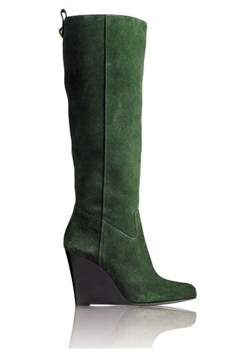 green suede wedge boots fashion shoes