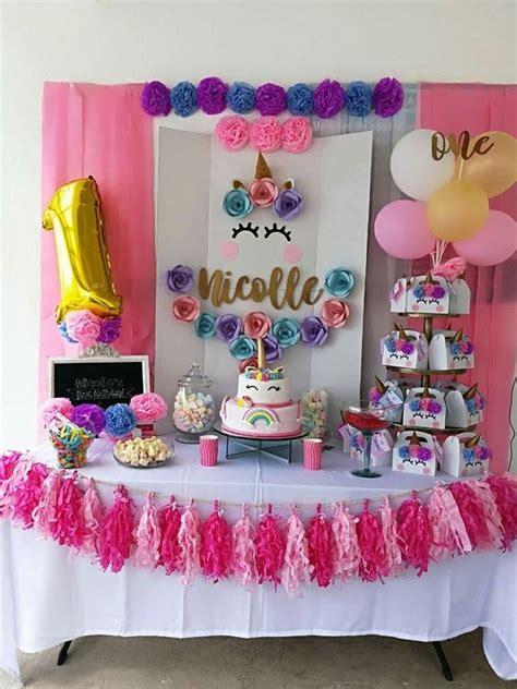 como decorar fiesta de unicornio fiestas infantiles de unicornio para ni 241 a con ideas incre 237 bles