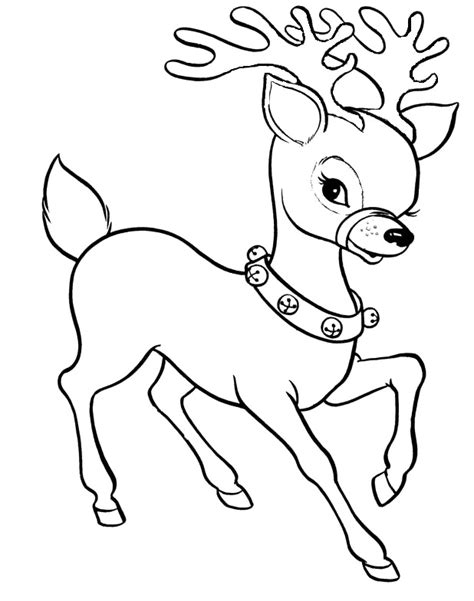 Christmas Reindeer Coloring For Kids Christmas Coloring Free Printable Reindeer Coloring Pages