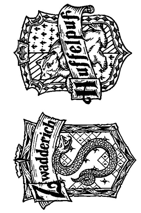 harry potter coloring pages hufflepuff kleurplaten potter