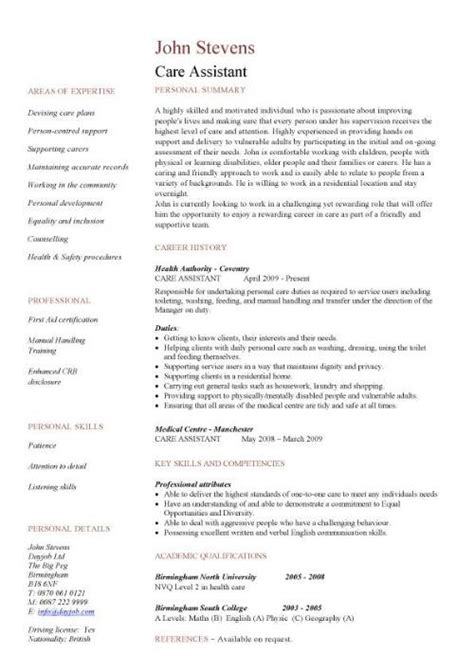 aged care resume the best resume