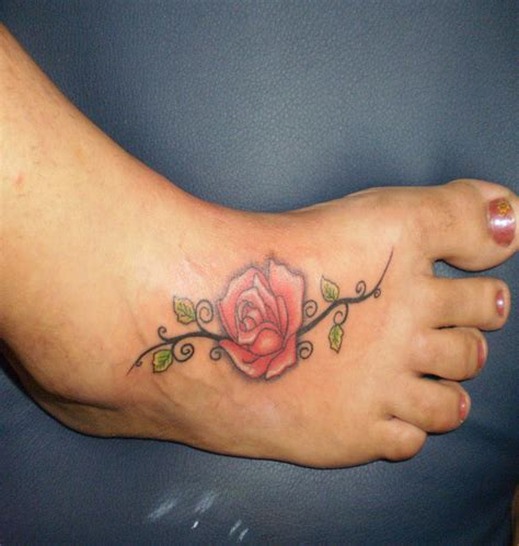 small rose foot tattoos small ankle tattoos designs ideas and meaning tattoos