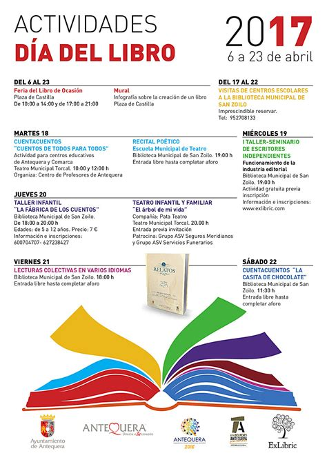 libro 365 actividades para desarrollar informaci 243 n de actividades con motivo del d 237 a del libro turismo antequera