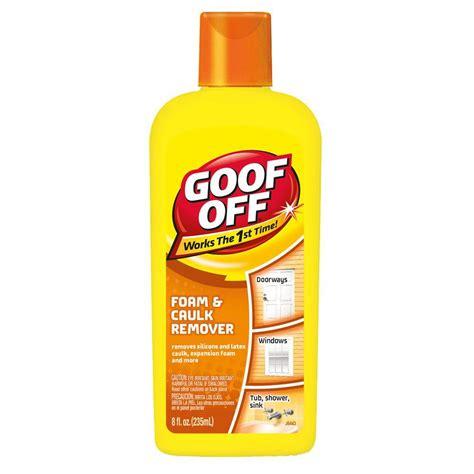 bathroom caulk remover goof off 8 oz foam and caulk remover fg675 the home depot