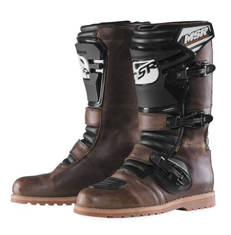 msr motocross boots msr new mx dual sport vintage leather adventure motorcycle