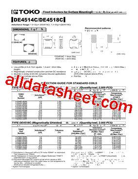 toko inductor datasheet toko inductors datasheet 28 images 919as 160m datasheet datasheets manu page 1 fixed