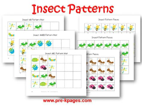 pattern math lesson plans for kindergarten bugs and insects theme activities in preschool