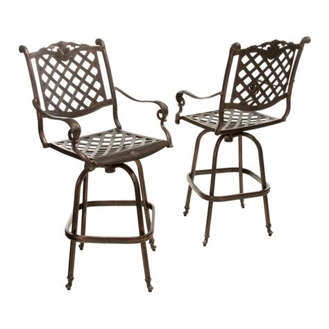Shop Best Selling Home Decor Avon Set Of 2 Shiny Copper Patio Bar Chairs
