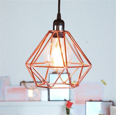 nordic geometric copper ceiling pendant light by made with