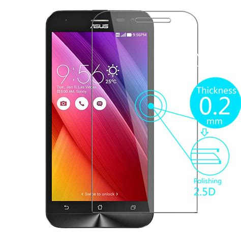 Silver Tempered Glass 9h Asus Zenfone Selfie Zd551kl 55 aliexpress buy tempered glass screen protector for asus zenfone selfie zd551kl 2