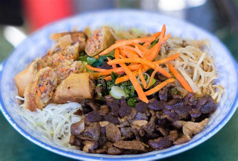 traditional bowl food traditional bowl of bun vermicelli rice stick