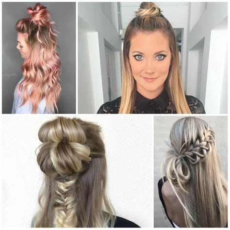 Half Hairstyles For by Half Bun Hairstyle Curly Hair Hairstyles