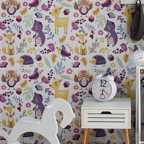 Stickers Tapisserie by Sticker Tapisserie Chambre Enfant Les Animaux Du Parc