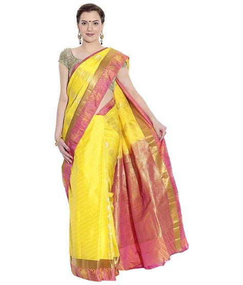 pothys silk sarees pothys yellow silk saree buy pothys yellow silk saree
