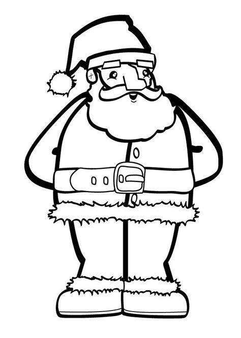 movable santa coloring page 253 free santa coloring pages for the kids