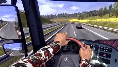 kumpulan mod game euro truck simulator 2 hands on steering wheel v1 0 mod download