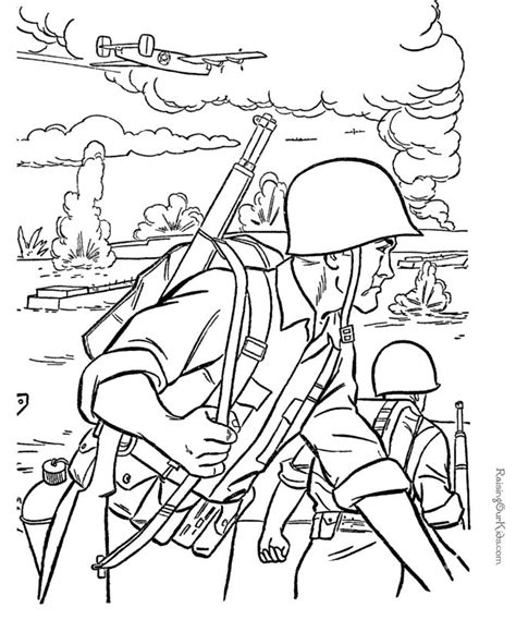 printable soldier coloring pages memorial day pinterest