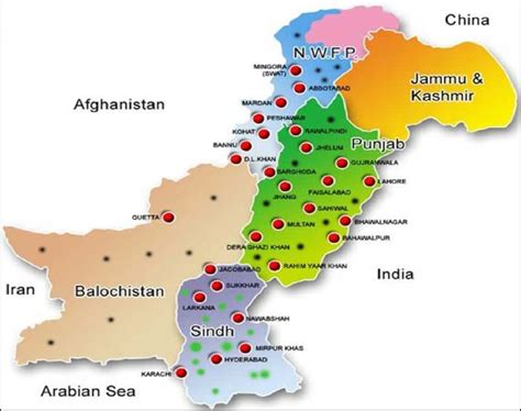 map  pakistan showing  distribution  prevalence