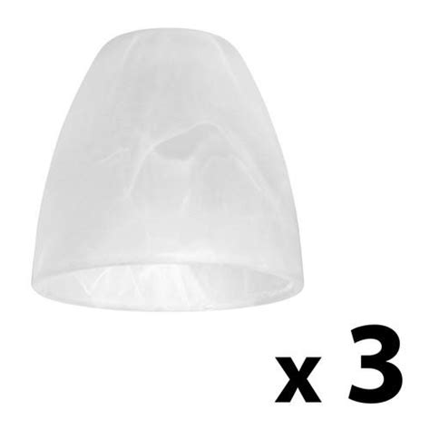 Spare Glass Shades For Ceiling Lights Set Of 3 Frosted White Alabaster Glass Replacement Ceiling Light L Shades 163 12 99 Ebay