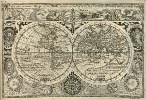 historic map of the world 1628 size
