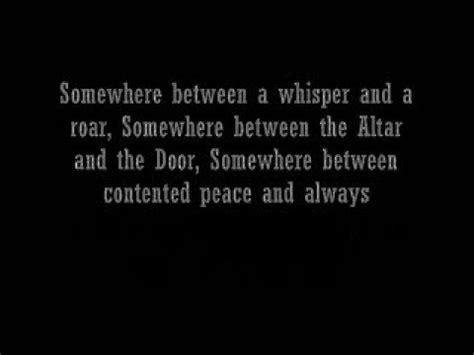 w lyrics crowns somewhere in the middle w lyrics