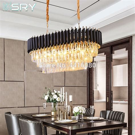 italy rectangle modern crystal chandelier dining room