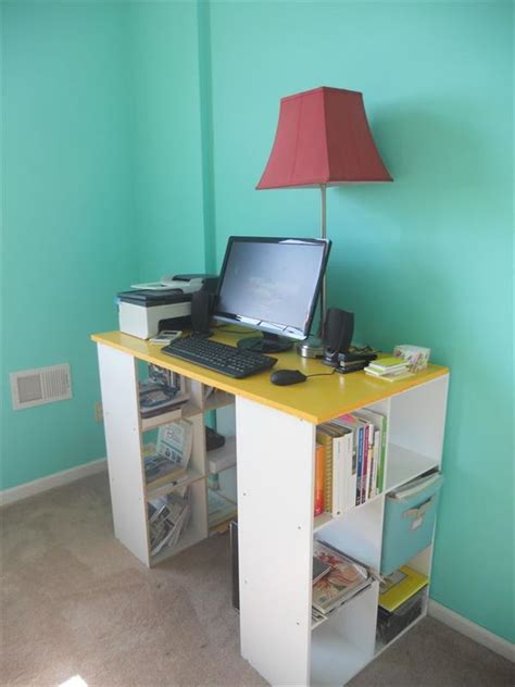 Bookcase Desk Diy 15 Diy Computer Desk Ideas Tutorials For Home Office Hative