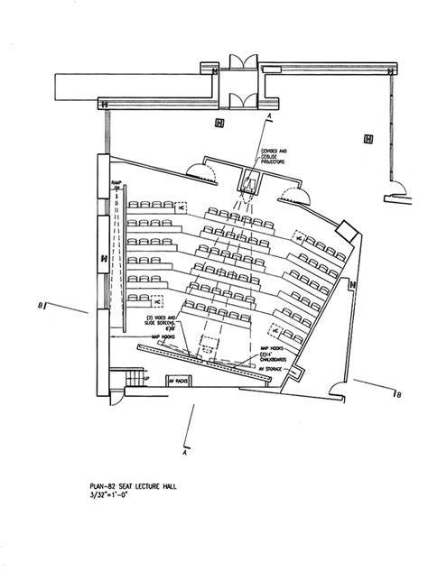 lecture hall floor plan 80 seat lecture hall plan option b