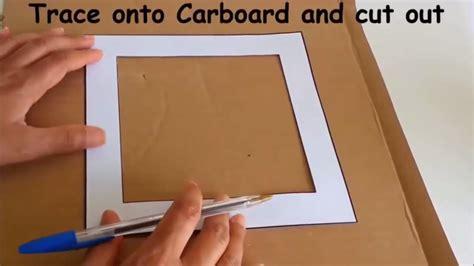 Lu Hias Mobil membuat bingkai foto dari kardus bekas membuat