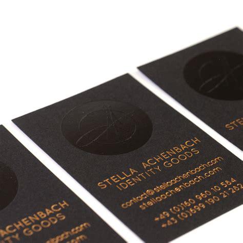 Visitenkarten Schwarz by Gepr 228 Gte Visitenkarte In Schwarz Und Gold Feiner