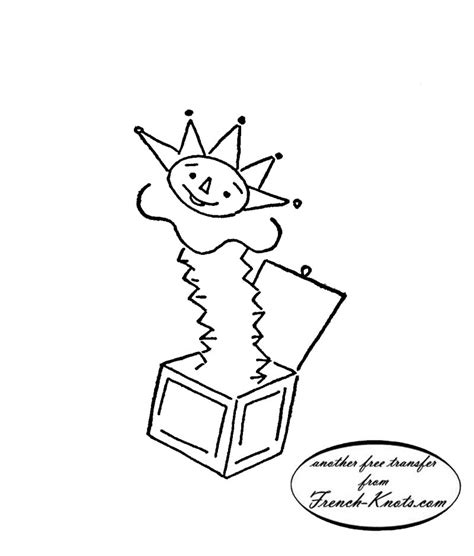 pattern drawing toy jack in the box toy embroidery transfer pattern