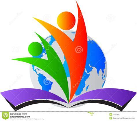 free educational painting world education logo stock images image 32007364