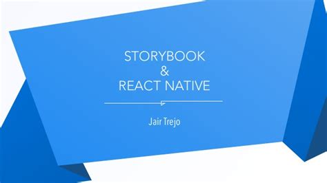 react native firebase tutorial react storybook