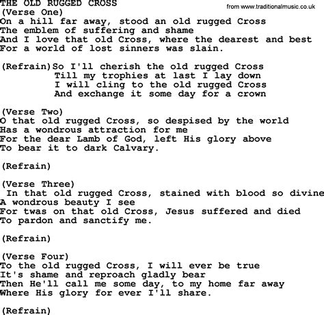 who wrote the song the rugged cross the rugged cross by merle haggard lyrics