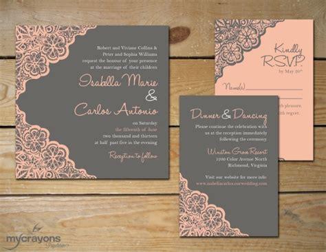 rustic wedding invitation sets rustic inspired lace wedding invitations