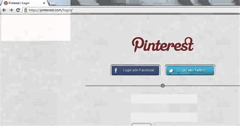 pinterest login login button hack