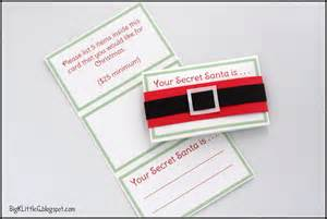 big k little g diy secret santa drawing gift tags with
