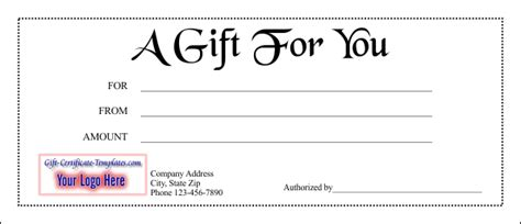 doc gift card template gift for you doc pdf printable gift certificates templates